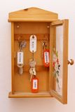 Keys cabinet. Cabinet with many dream keys royalty free stock image