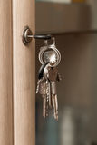 Keys on the cabinet. A photo stock photo
