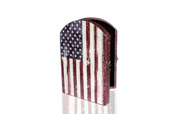 Keys cabinet Vintage Style with flag of United States of America Royalty Free Stock Photos