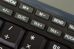 Keys of the calculator Stock Image