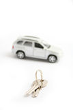 Keys for the car. Gift Royalty Free Stock Photography