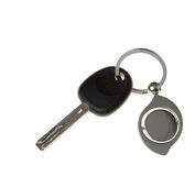 Keys from the car. Are isolated on a white background Stock Images