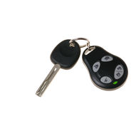 Keys from the car. Are isolated on a white background Royalty Free Stock Images