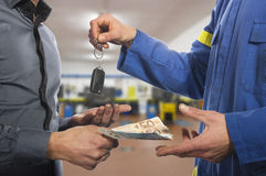 The keys of the car to the customer Royalty Free Stock Photo