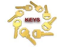 Keys circular pattern Stock Photo