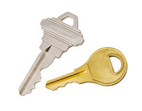 Keys with Clipping Path. Keys isolated on white background with clipping path Stock Photos