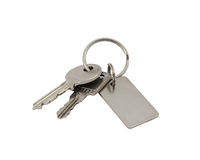 Keys with clipping path. Royalty Free Stock Photo