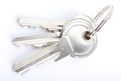 Keys CloseUp Isolated Stock Photography