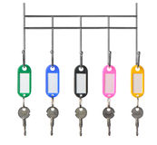 Keys with color trinkets Stock Image