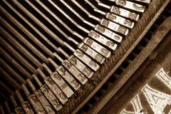 keys den gammala skrivmaskinen Royaltyfri Fotografi