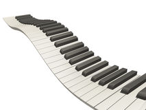 keys det wavy pianot Royaltyfria Foton