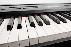 Keys of digital piano synthesizer Royalty Free Stock Photography