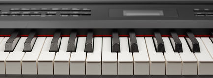 Keys of digital piano synthesizer Stock Photo