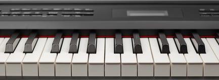 Keys of digital piano synthesizer. Closeup view Stock Photo