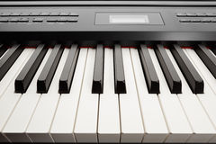 Keys of digital piano synthesizer Royalty Free Stock Photos