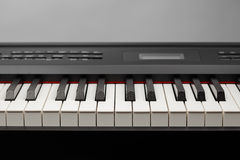 Keys of digital piano synthesizer Stock Image