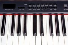 Keys of digital piano synthesizer Stock Photo