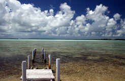 Keys Dock. Florida Keys Scenic Dock and Ocean Royalty Free Stock Photography
