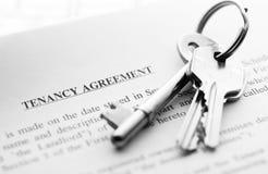 Keys on document Royalty Free Stock Photos