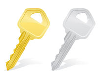 Keys door lock  illustration Royalty Free Stock Images