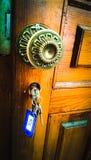 Keys in the door Stock Image