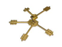 Keys from door locks Royalty Free Stock Photography