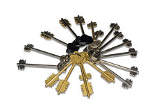 Keys from door locks Royalty Free Stock Photo