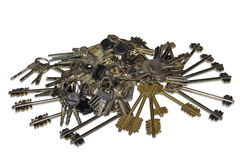 Keys from door locks Royalty Free Stock Photo