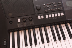 Keys electronic musical instrument close-up Stock Photography