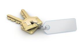 Keys with empty thumb Stock Photo