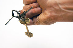 Keys on finger Royalty Free Stock Photos