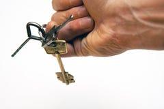 Keys on finger Royalty Free Stock Photos
