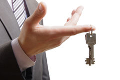 Keys on finger Stock Images