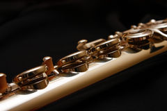 Keys on a Flute Royalty Free Stock Photography