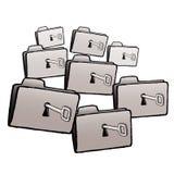 Keys folders (vector) Royalty Free Stock Image