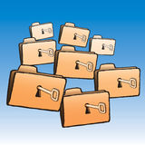 Keys folders (vector) Royalty Free Stock Photos