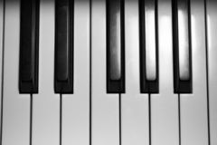 Keys on grand baby piano stock images