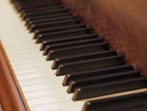 Keys of the grand piano Stock Images