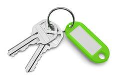 Keys and Green Key Chain Stock Image