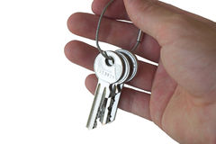 Keys in hand Royalty Free Stock Photo