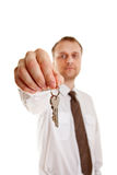 Keys in hand Royalty Free Stock Photo