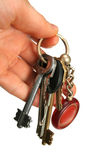 Keys in a hand. Sheaf of keys in a hand Stock Image
