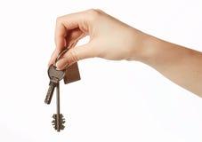 Keys in hand Royalty Free Stock Photos
