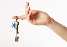 Keys in hand Stock Images