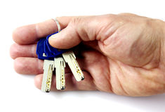 Keys in hand Stock Photography