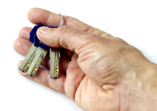 Keys in hand Royalty Free Stock Photos