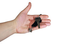 Keys in hand Stock Photo