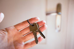 Keys in the hand Stock Image