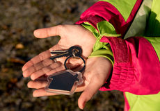Keys in hand. To buy or build an apartment or house, keys in hand Stock Images