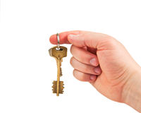 Keys in hand Royalty Free Stock Image